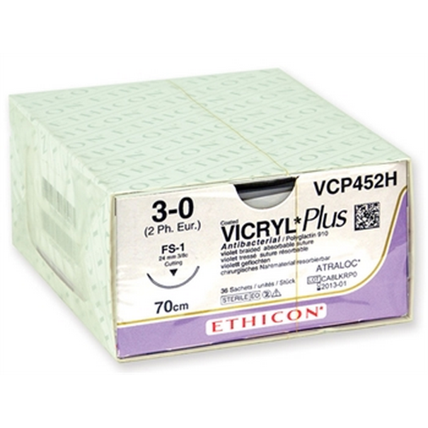 SUTURA ASSORBIBILE ETHICON VICRYL PLUS - 2/0 ago 24 mm ( conf. n° 36 pz)